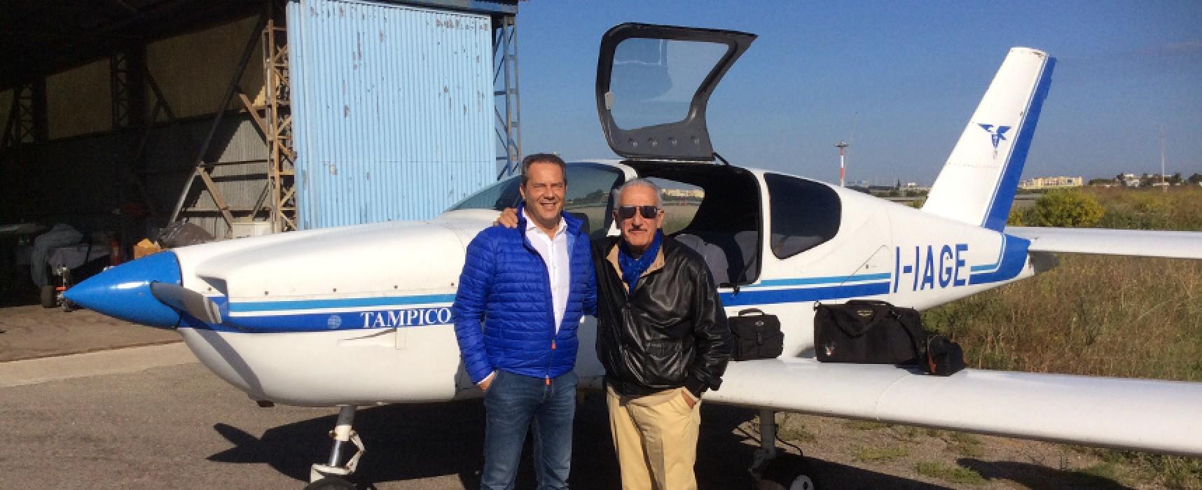 Convenzione con AeroClub Bari, ieri il primo volo ricognitivo su Bisceglie