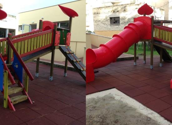 Nuovi spazi di gioco nelle scuole ma al parco Don Milani le giostrine sono ancora rotte