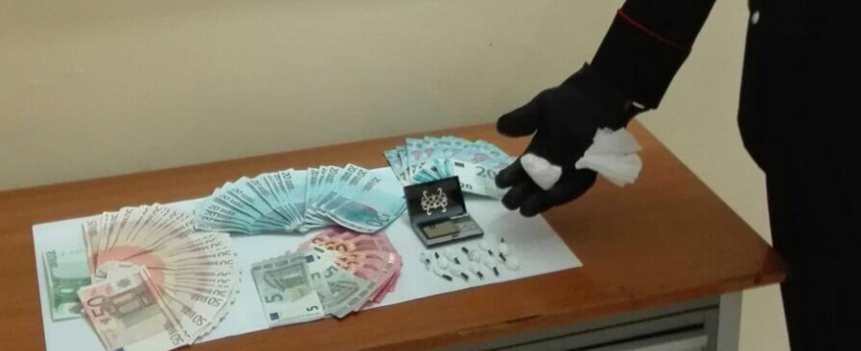 Spaccio di cocaina, 34enne biscegliese arrestato nella sua abitazione dai Carabinieri