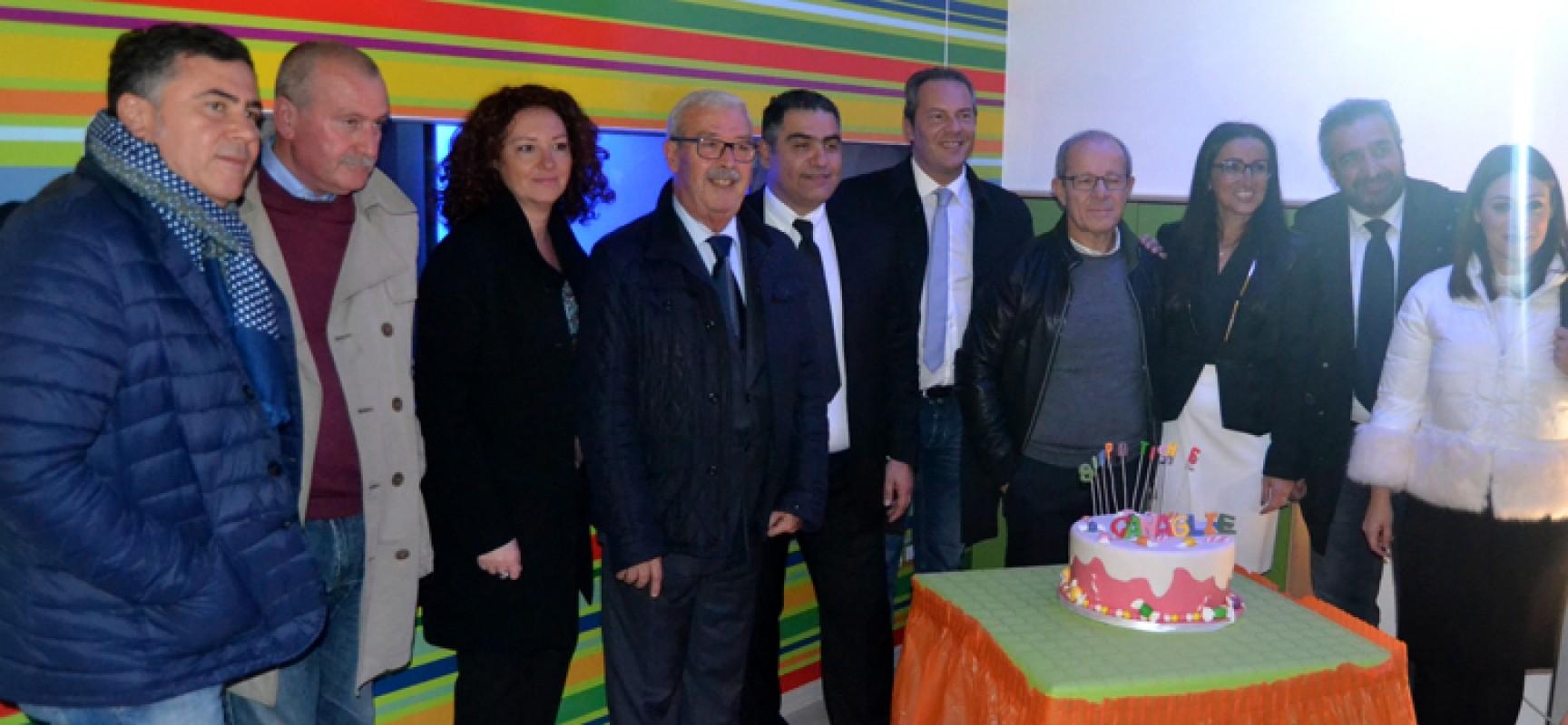 Grande festa e tripudio di colori per l'inaugurazione della ludoteca nella zona artigianale