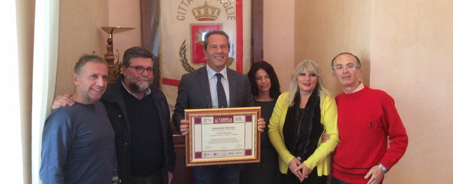 Comune di Bisceglie riceve riconoscimento internazionale per il restauro del Casale di Pacciano
