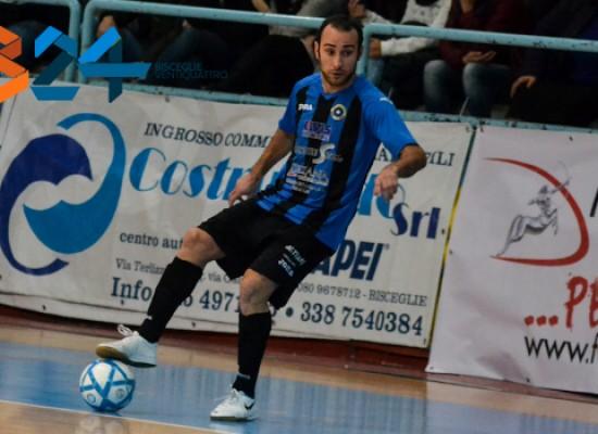 """Futsal Bisceglie: domani arriva il temibile Real Dem, ufficiale il ritorno di """"Sheva"""" De Cillis"""