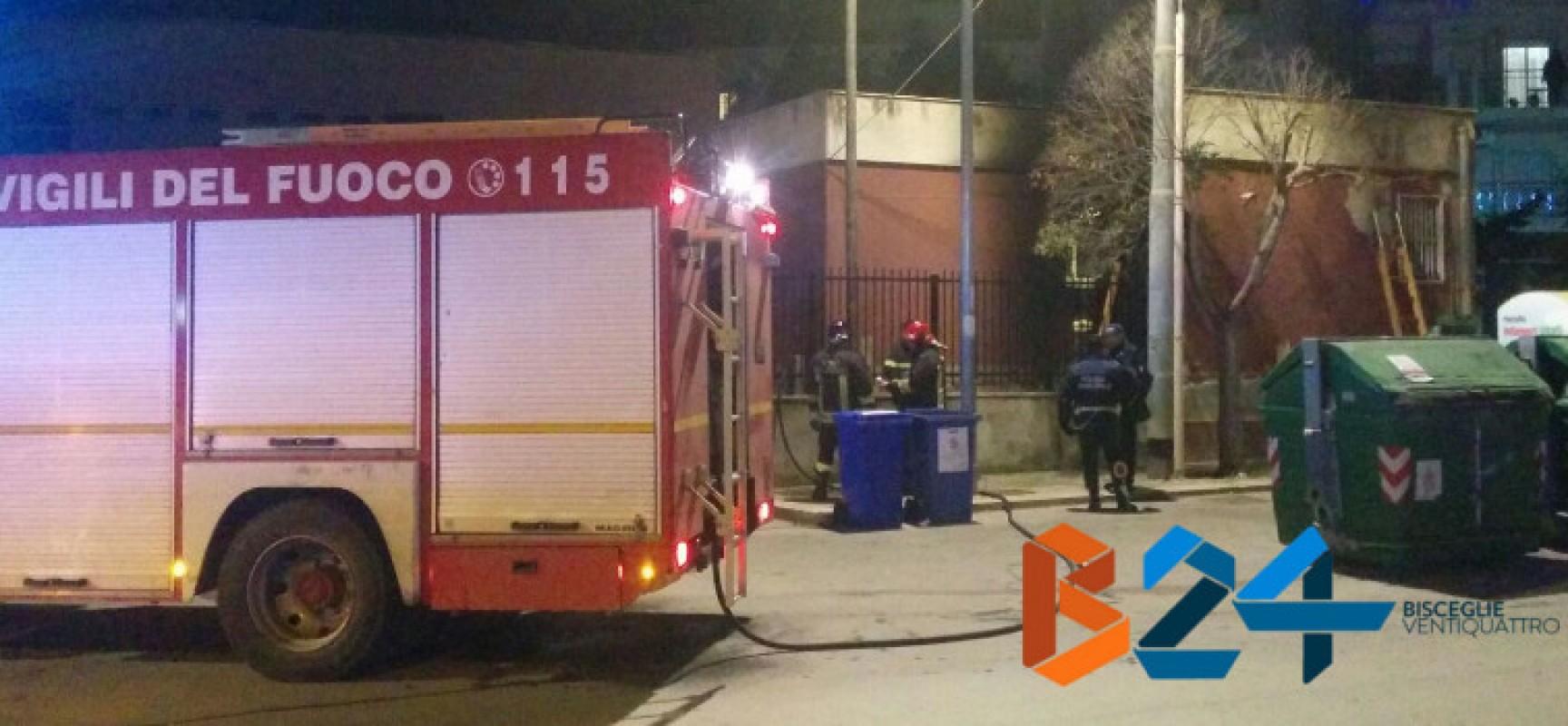 Scuola San Giovanni Bosco, incendio doloso nelle vicinanze dell'ex casa del custode