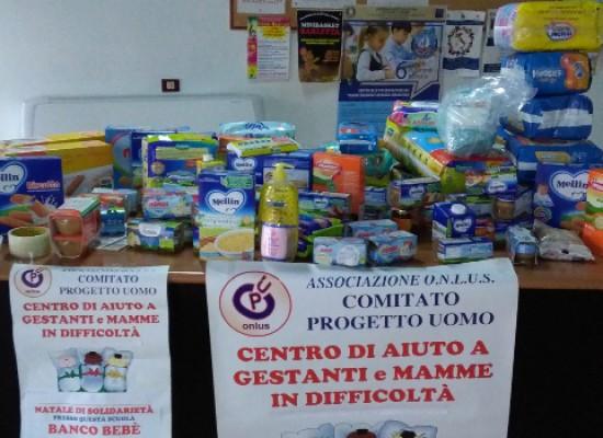 Banco Bebè del Comitato Progetto Uomo, raccolta alimenti e prodotti per l'igiene