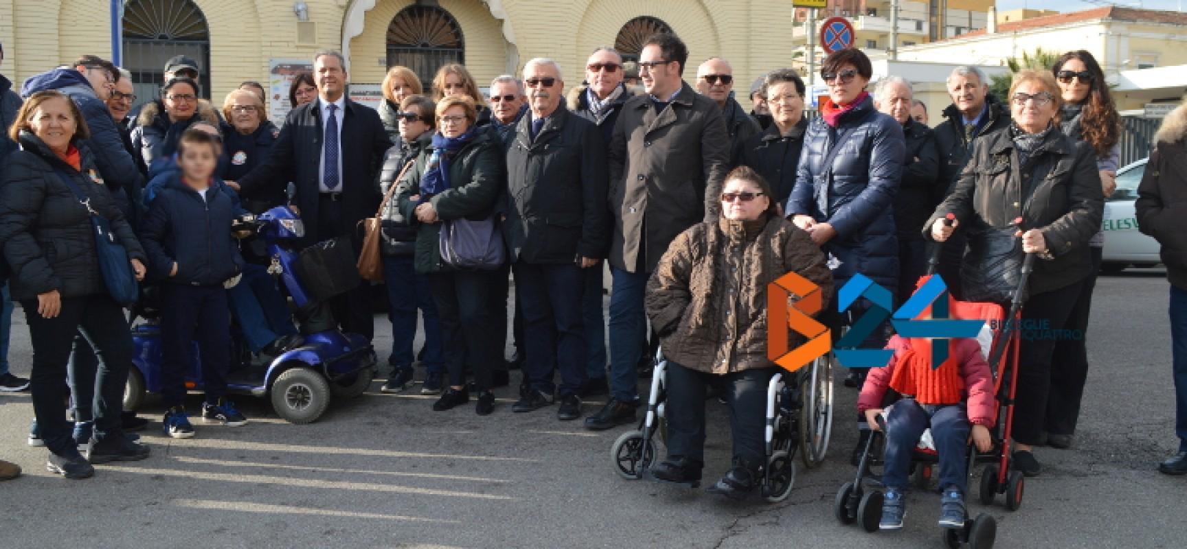 """Sit in stazione contro barriere architettoniche, Spina: """"Battaglia di civiltà, ascensore entro febbraio"""""""