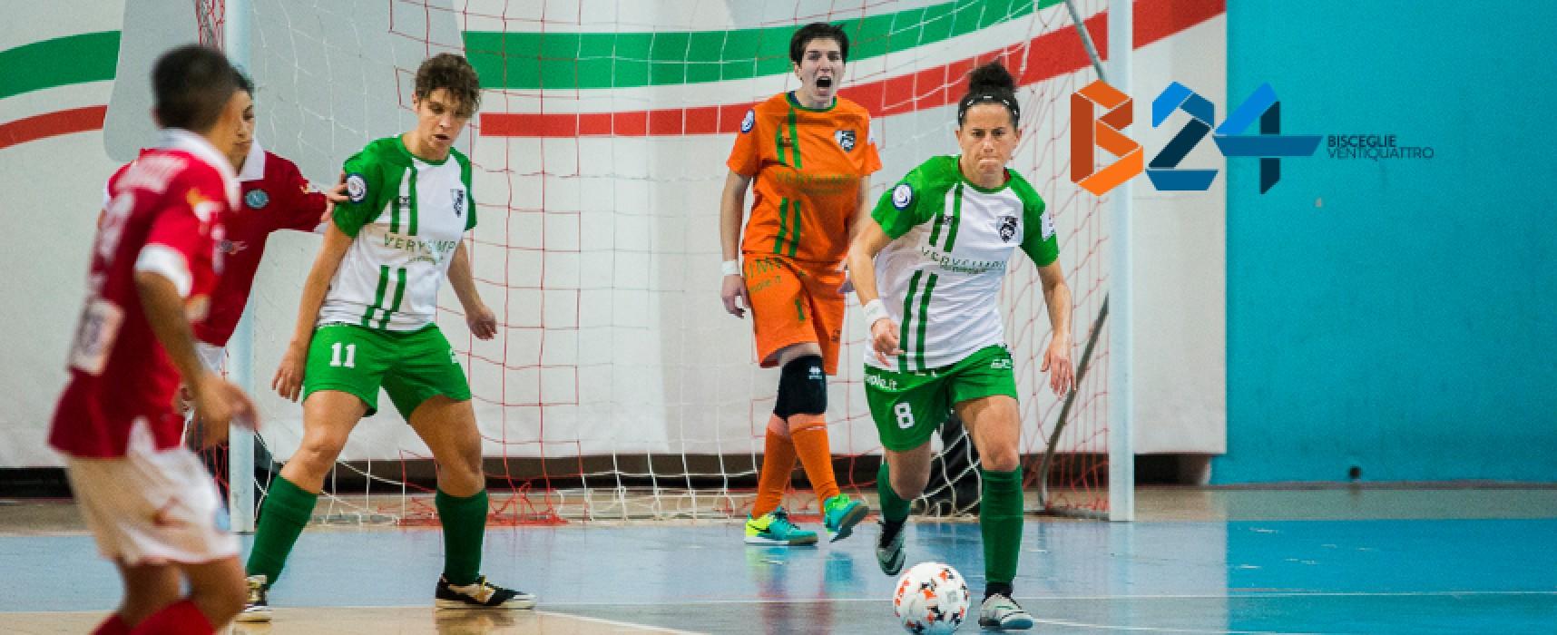 Calcio a 5 femminile, Arcadia a caccia dell'impresa a Colleferro, impegno casalingo per il Futsal Bisceglie