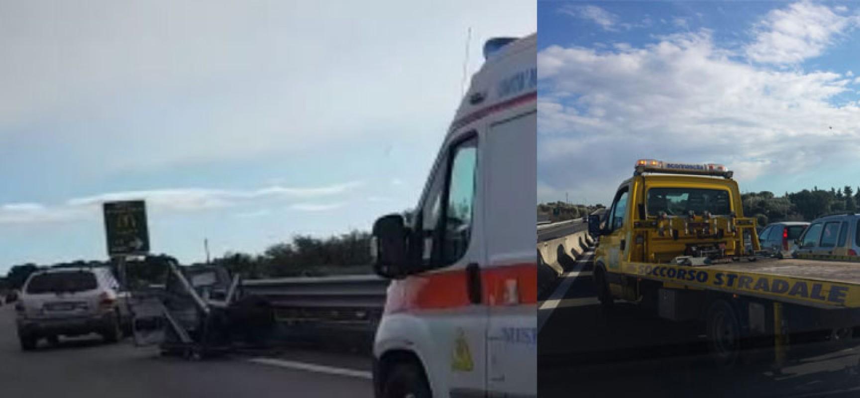 Tre ruote perde carico, incidente sulla 16bis