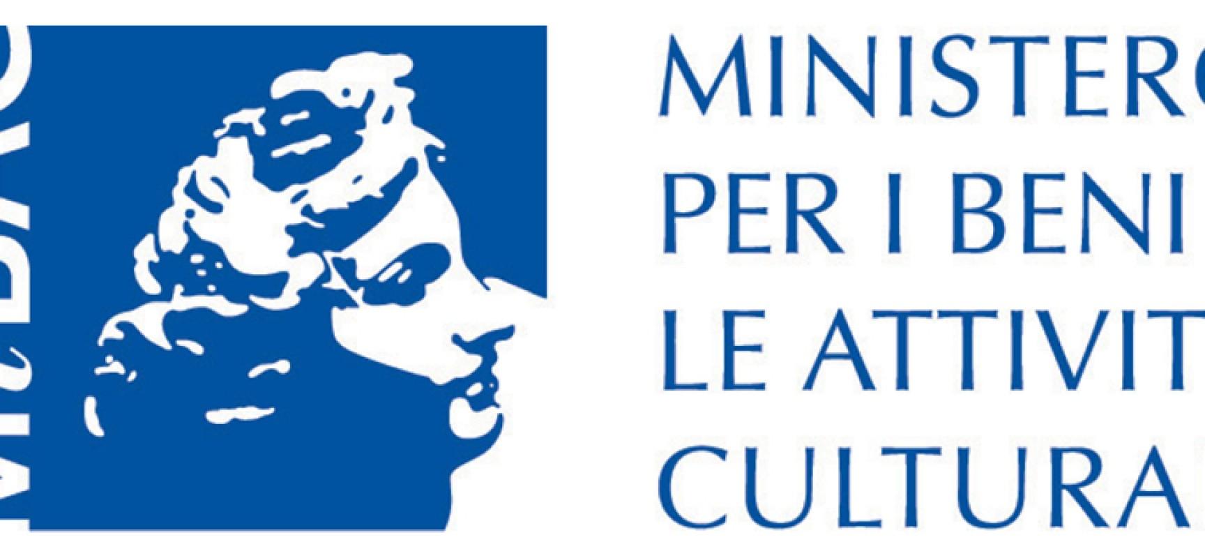 Mibact stanzia 5,6 milioni per valorizzazione beni culturali del Sud. Ne beneficerà anche Bisceglie