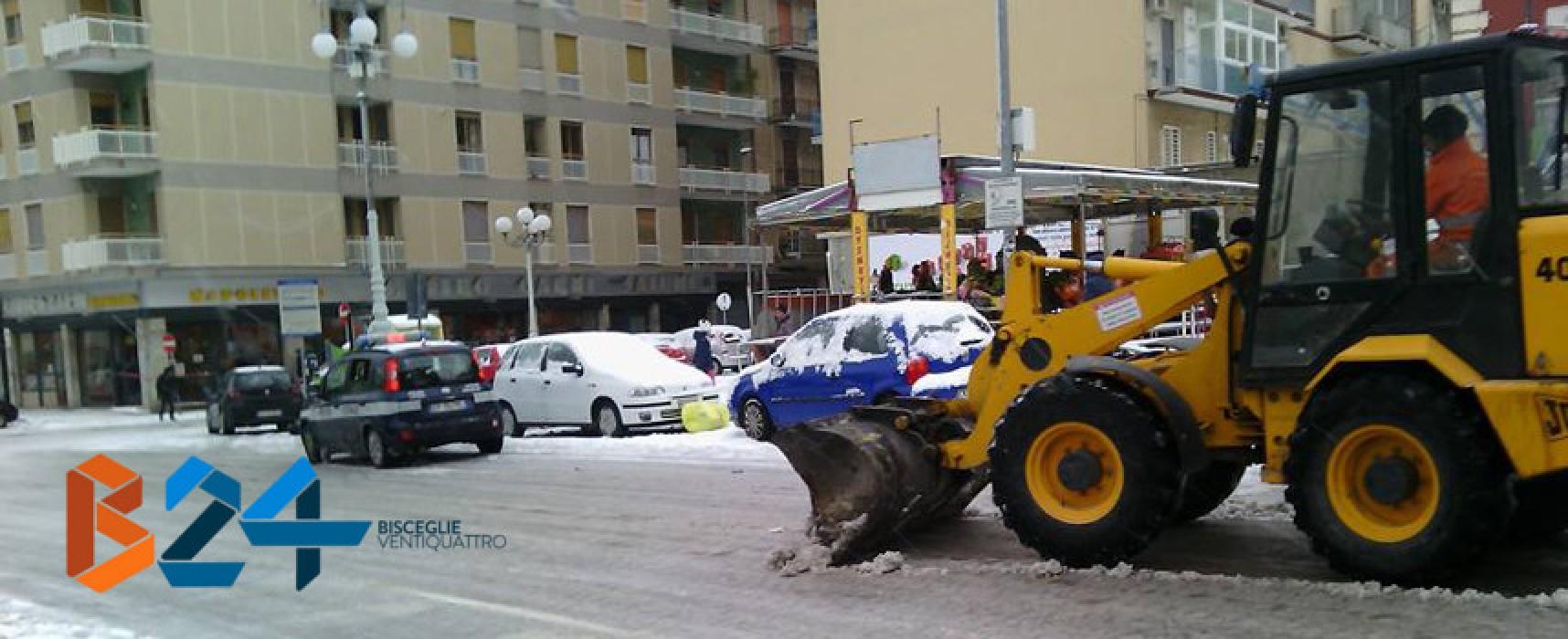 Allerta meteo, Bisceglie: acquistato sale, preallertato il servizio locale di protezione civile