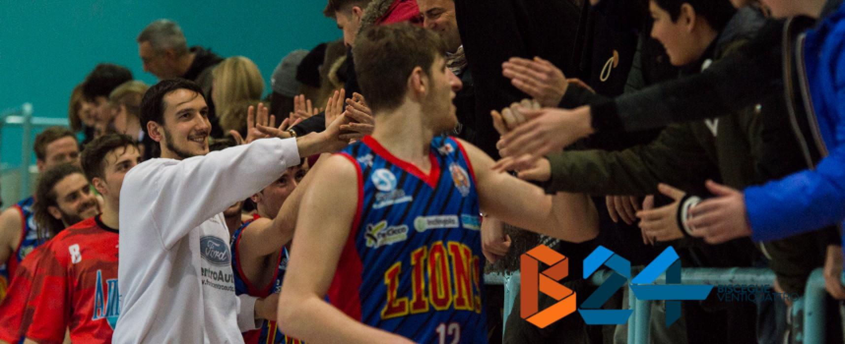 Lions Basket scatenati contro Isernia, vittoria con quaranta punti di scarto