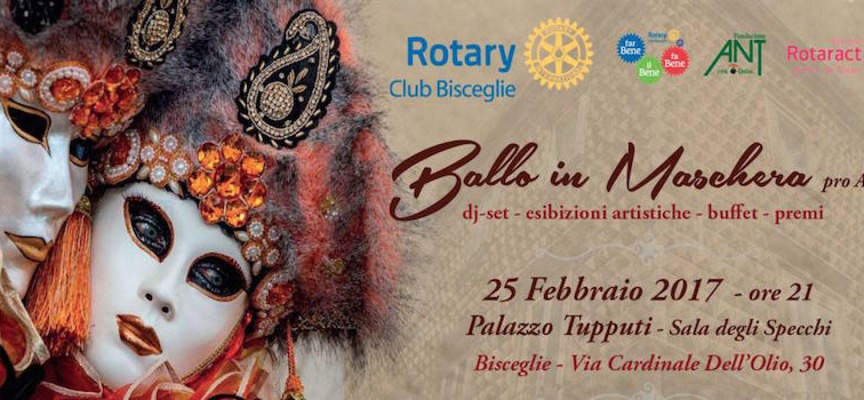 """Il Rotary organizza un """"Ballo in maschera"""" a sostegno dell'Ant, tra divertimento e solidarietà"""