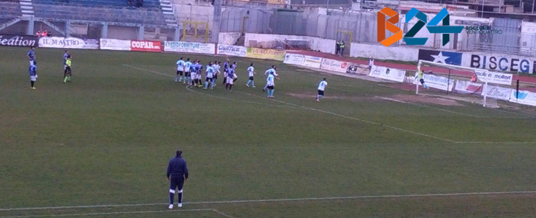 Montinaro gol, Bisceglie vittorioso nel finale
