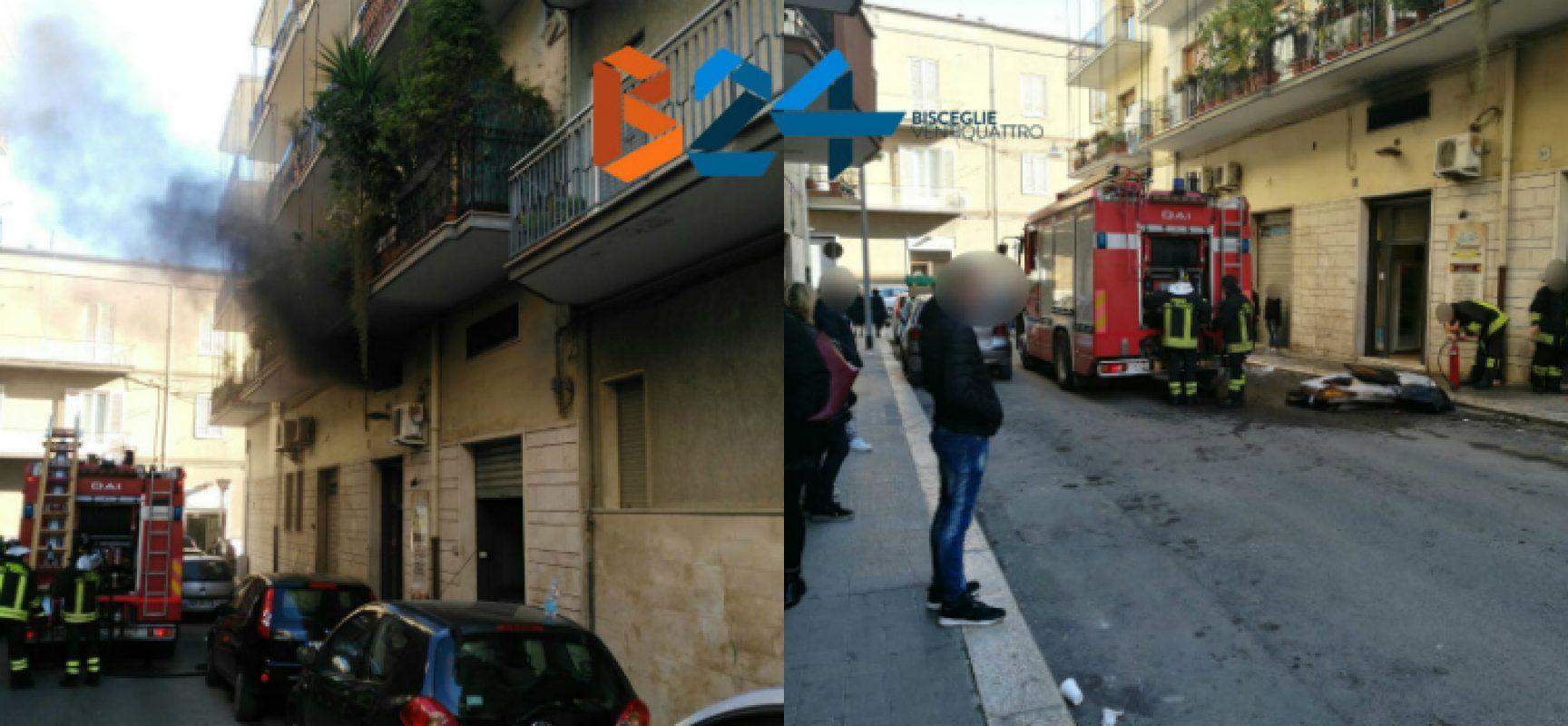 Incendio in un locale in zona corso Umberto, nessun ferito