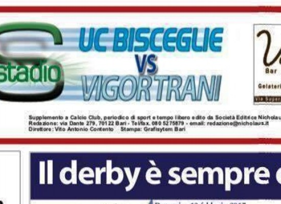 Il derby Unione Calcio-Vigor Trani presentato dall'iniziativa di CalcioClub Nicholaus