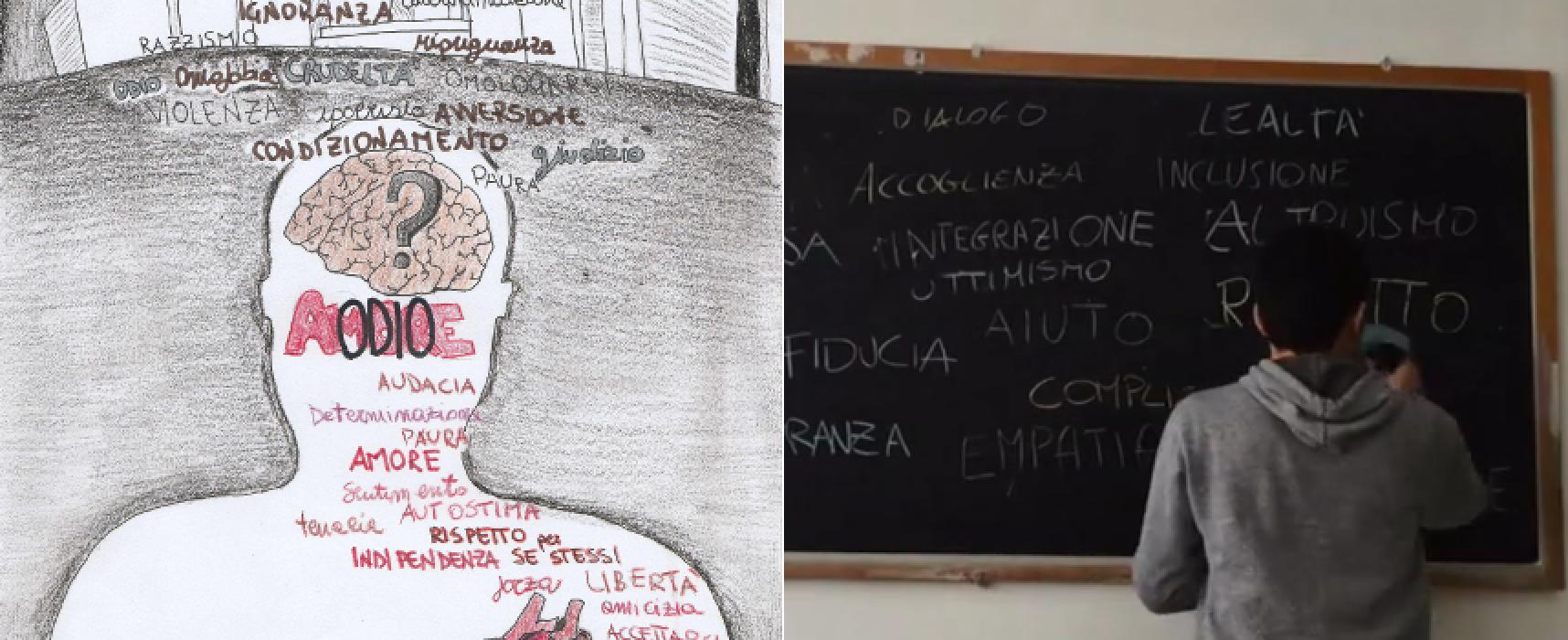 """""""Un bacio experience"""", due classi del Liceo sul """"social wall"""" del progetto nazionale contro il bullismo"""