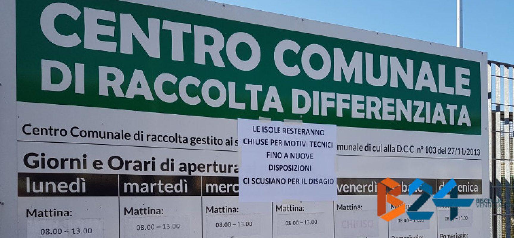 Riapre lunedì l'isola ecologica di via Padre Kolbe, ancora chiusa quella di Carrara Salsello