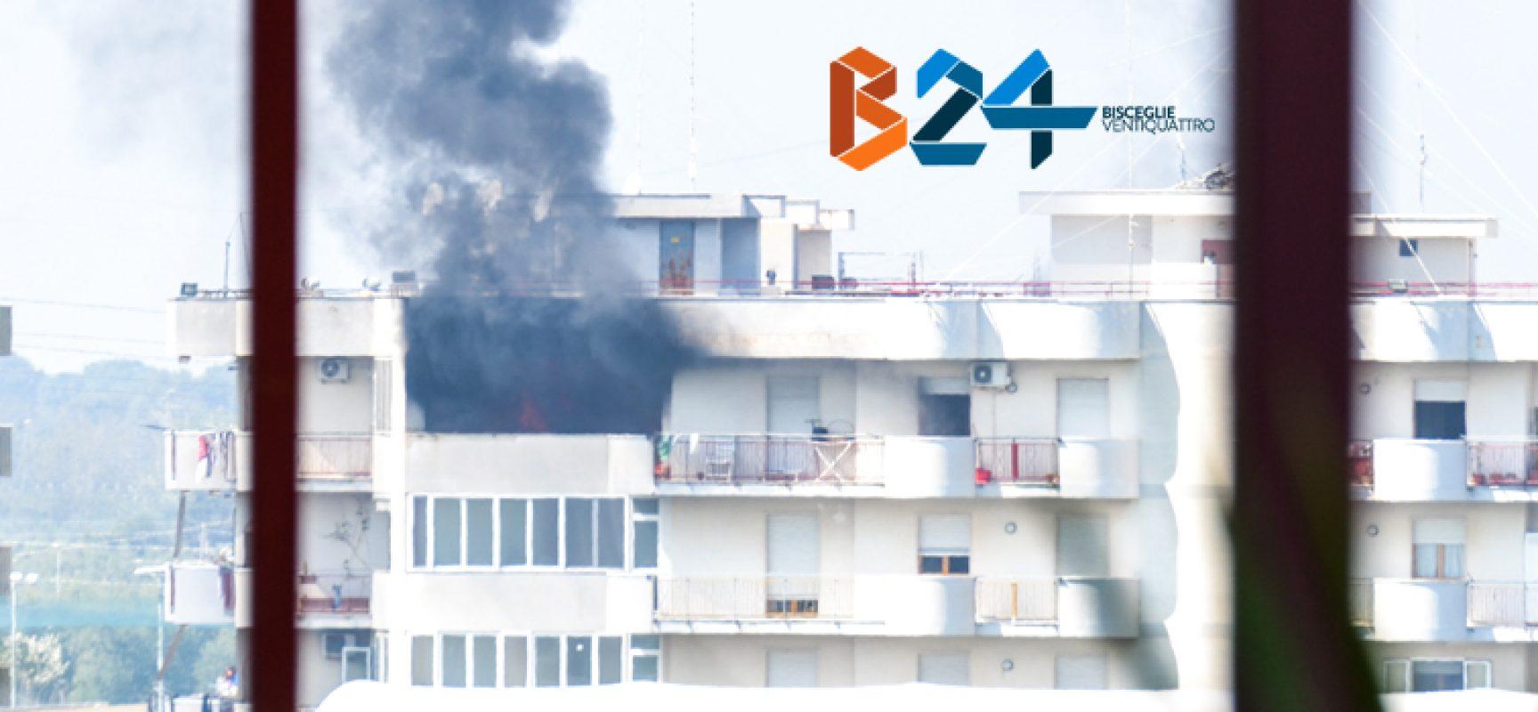 Incendio in un appartamento nel quartiere Sant'Andrea, soccorso 44enne