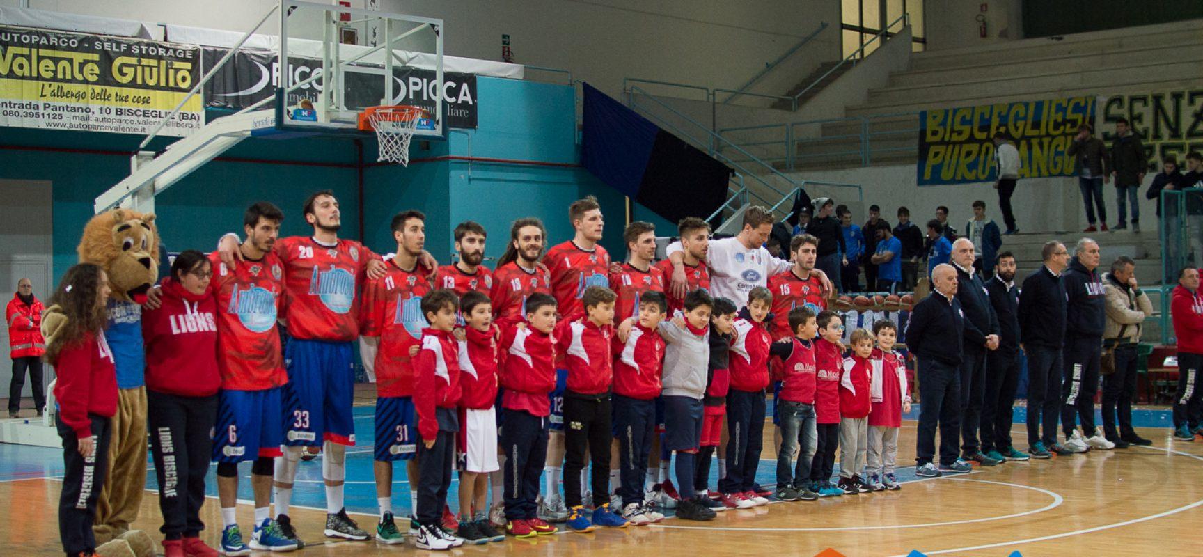 Lions Basket, derby e sfida al vertice contro la Cestistica San Severo