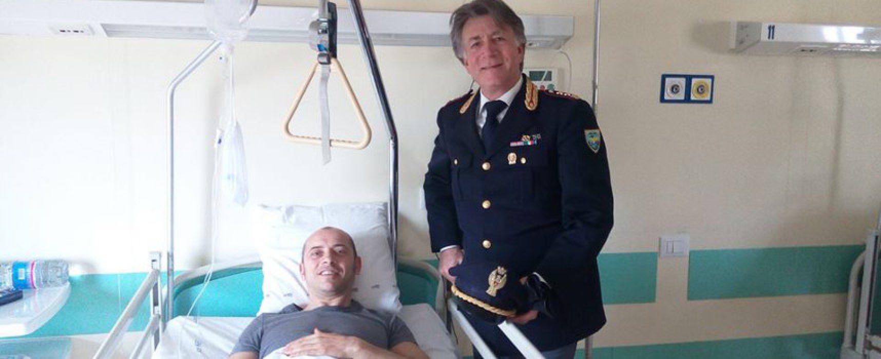 Operato, sta meglio il poliziotto-eroe che ha salvato la bimba a Bisceglie