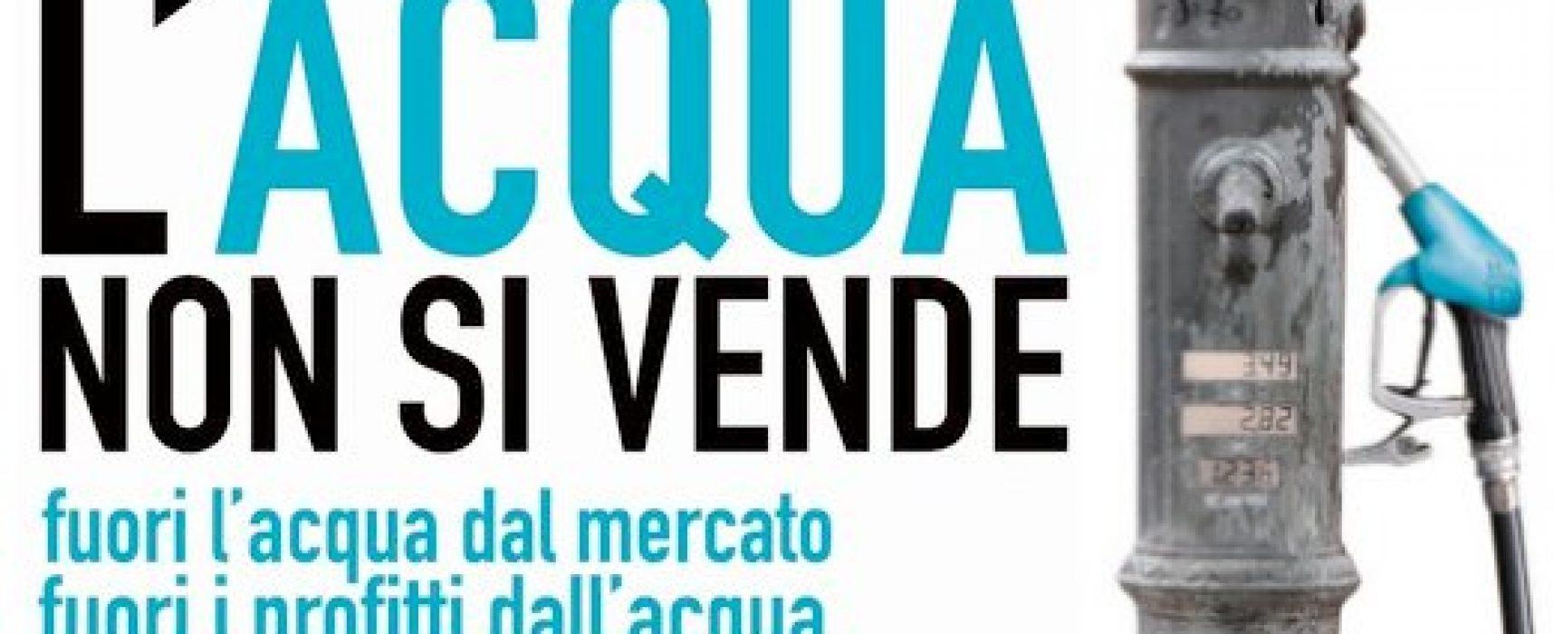 """""""L'Acqua non si vende"""", al Castello di Bisceglie incontro sulla ripubblicizzazione dell'Acquedotto Pugliese"""