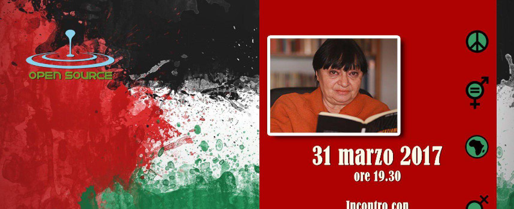 La candidata al Premio Nobel per la Pace Luisa Morgantini ospite dell'Arci Opensource
