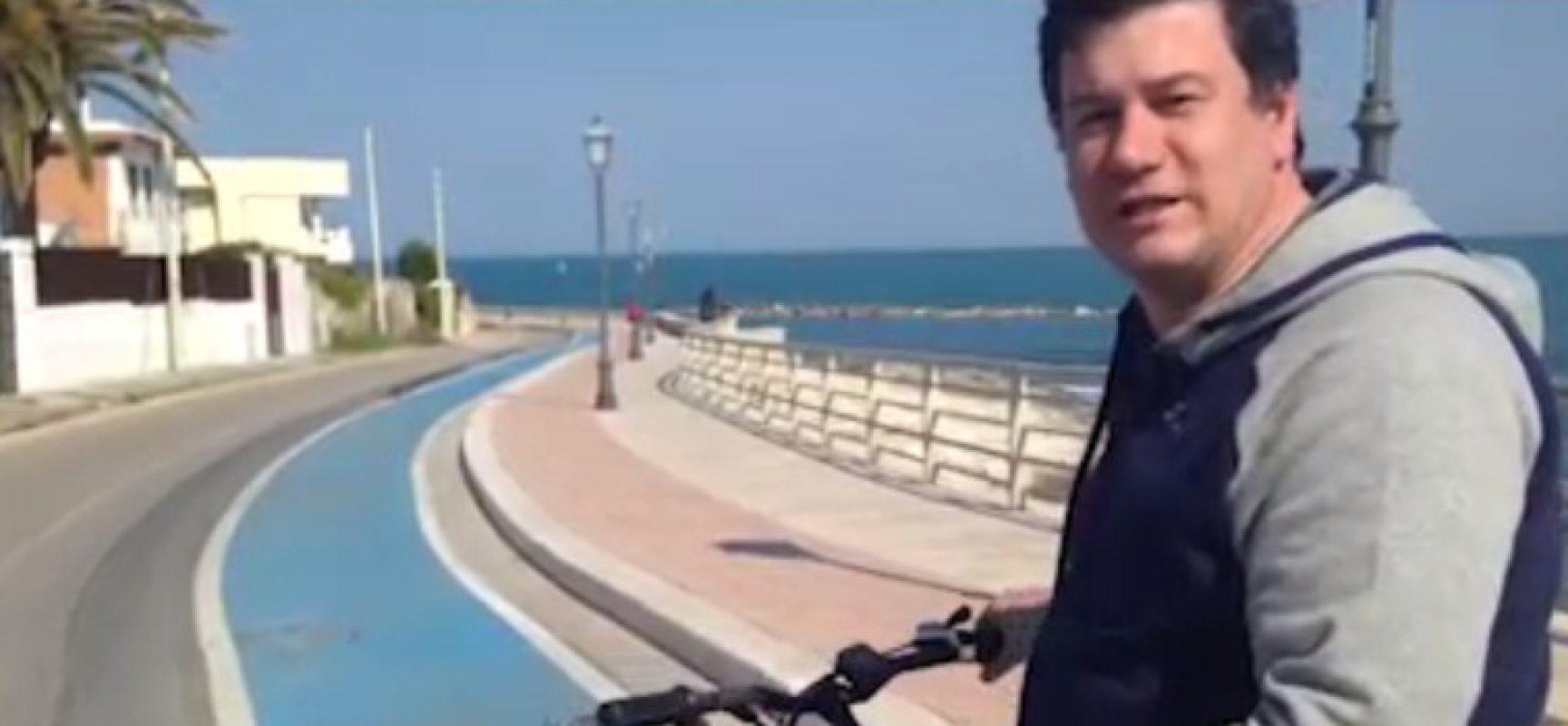 Video denuncia di Sergio Silvestris sulle condizioni delle piste ciclabili biscegliesi
