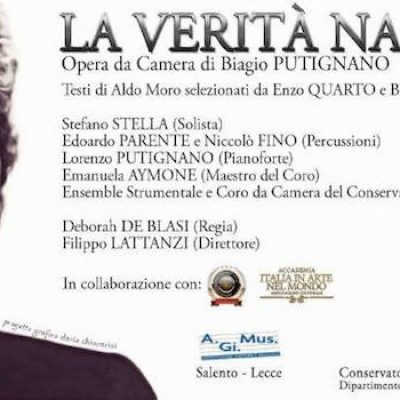 """""""La verità nascosta"""", al Teatro Garibaldi un'opera da camera dedicata ad Aldo Moro"""
