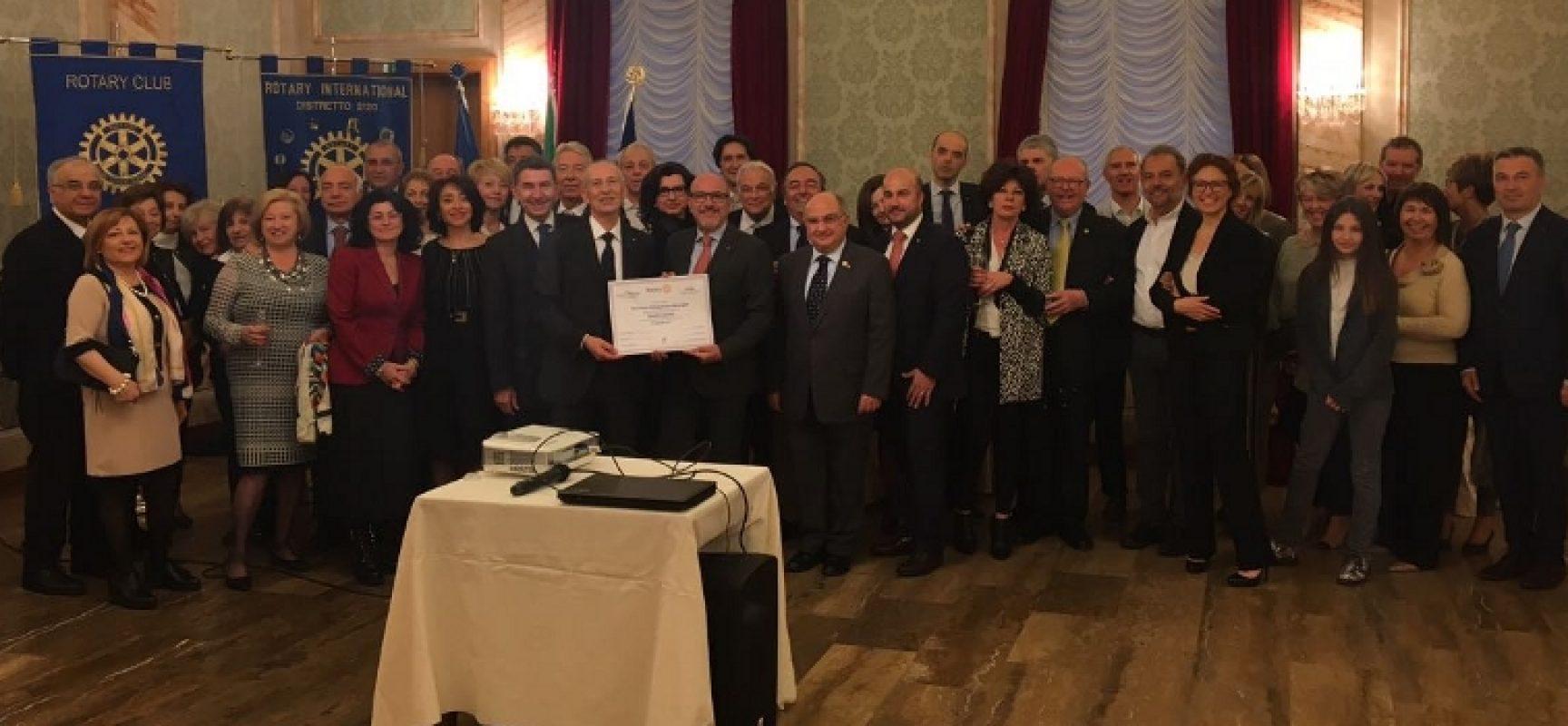 """Rotary Bisceglie protagonista a Rovereto e Roma, Pedone: """"Importante essere presenti con entusiasmo"""""""
