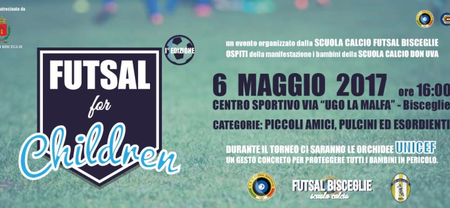 Futsal bisceglie domani prima edizione del torneo giovanile futsal for children bisceglie24 - Idea casa bisceglie ...