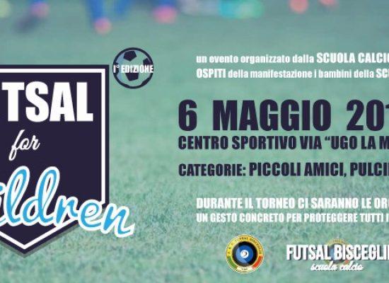 """Futsal Bisceglie: domani prima edizione del torneo giovanile """"Futsal for Children"""""""