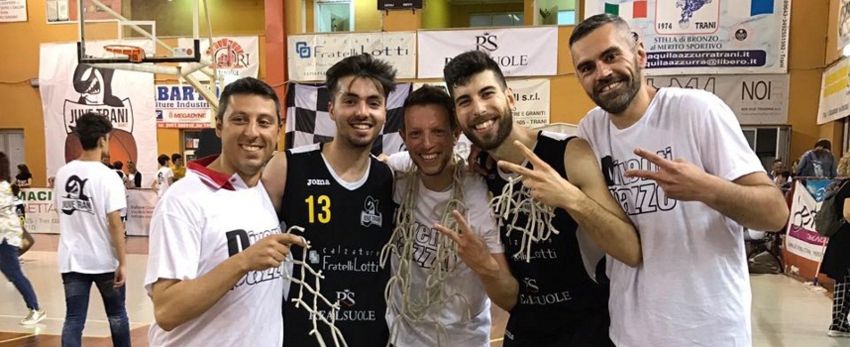 Basket, c'è un pizzico di Bisceglie nella promozione della New Juve Trani in serie D