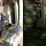 Guardia di Finanza sequestra 1800 kg di marijuana nella zona industriale di Bisceglie