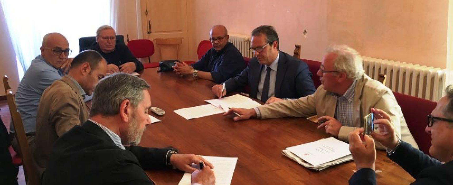 Sviluppo del territorio, firmato protocollo d'intesa tra Comune e sindacati