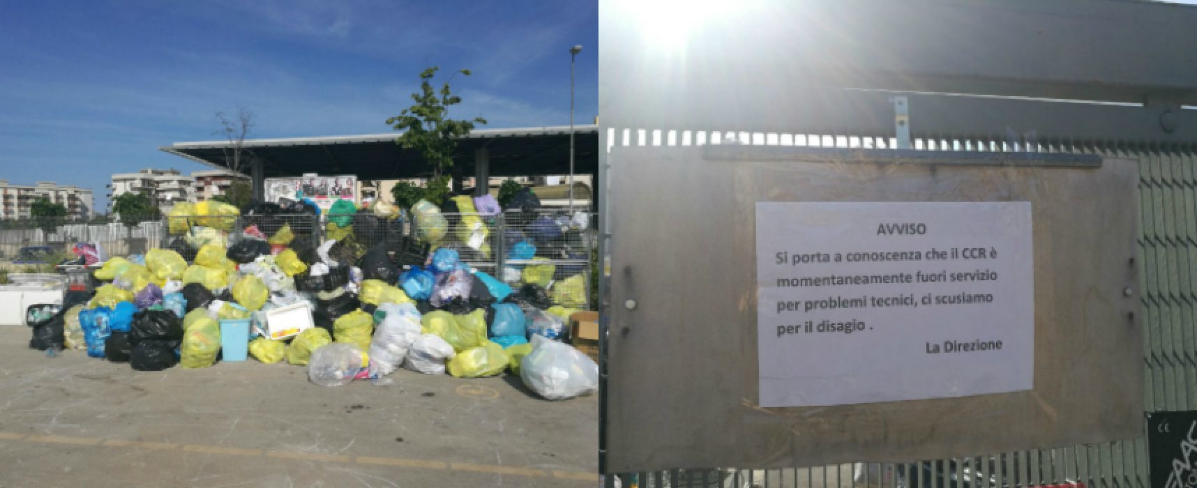 Centro raccolta comunale di via Padre Kolbe temporaneamente chiuso