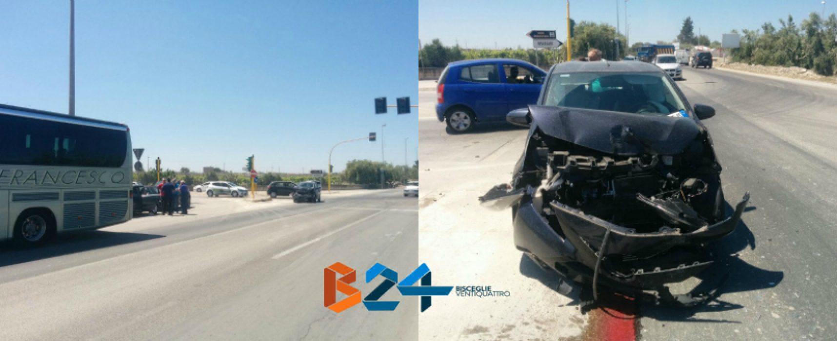 Incidente tra pullman e autovettura su via Imbriani, donna biscegliese al pronto soccorso
