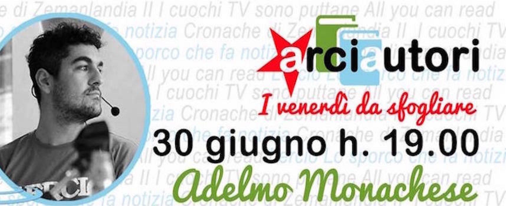 Adelmo Monachese inaugura la rassegna ArciAutori al circolo Open Source