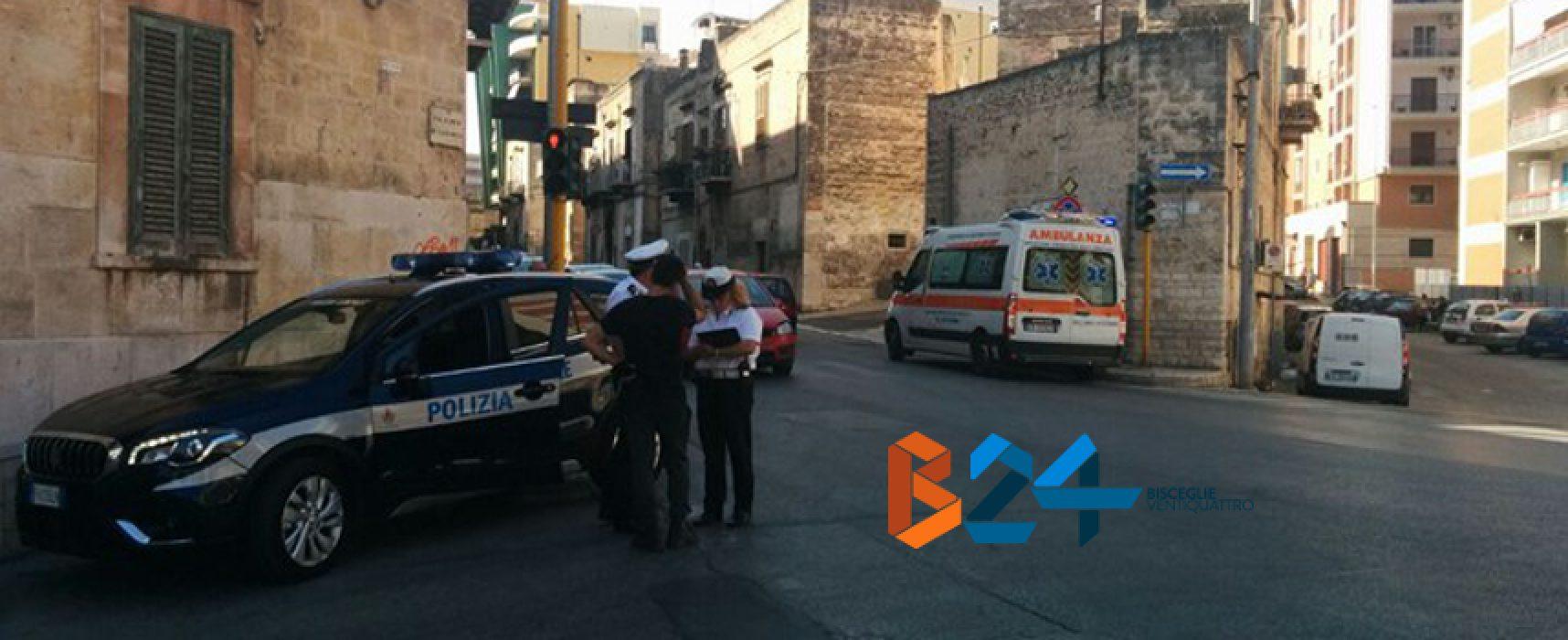 Anziano investito da un furgone su via Pendio Misericordia