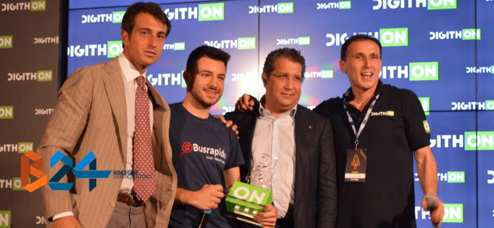 """BusRapido vince DigithON2017, Boccia: """"Bello poter fare qualcosa di utile nel proprio territorio"""" / FOTO"""