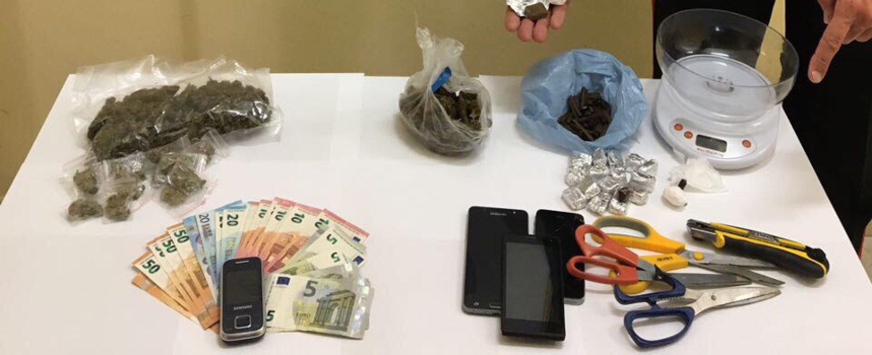 Blitz antidroga all'alba a Bisceglie, arrestate tre persone