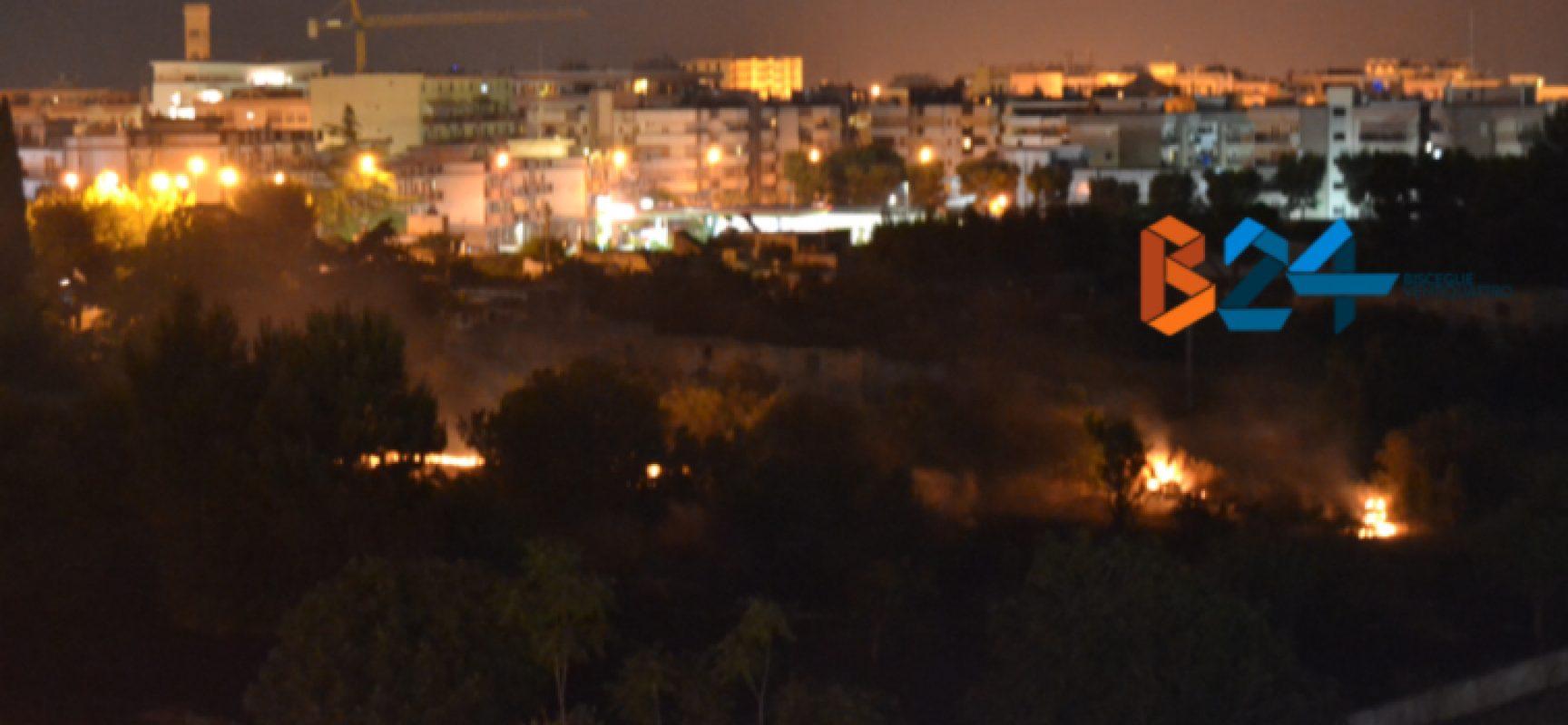 Secondo incendio in quattro giorni nel quartiere Sant'Andrea