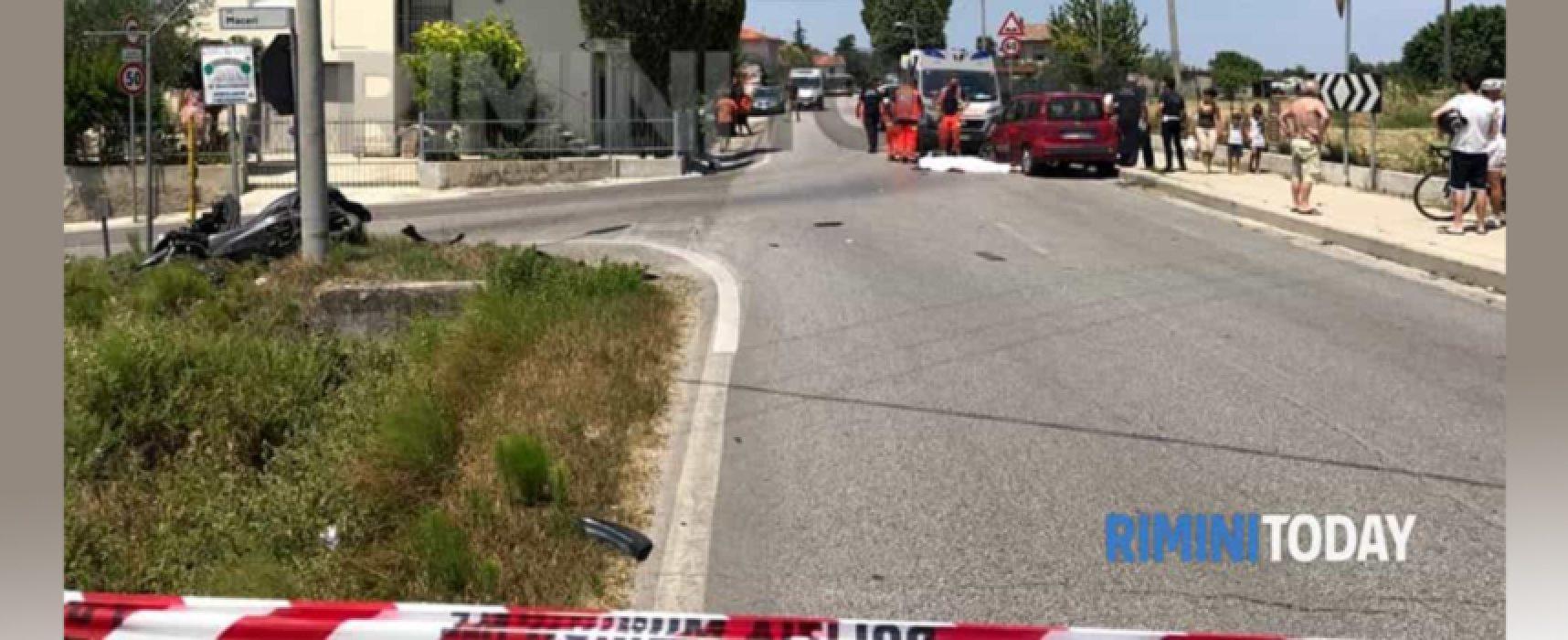 Scontro auto-moto a Rimini, 39enne biscegliese perde la vita