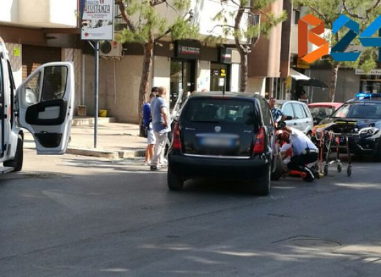 Incidente in via Lamaveta, 33enne al pronto soccorso