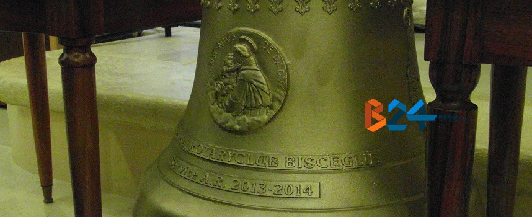 Il Rotary club di Bisceglie dona una campana alla chiesa del Santissimo Salvatore