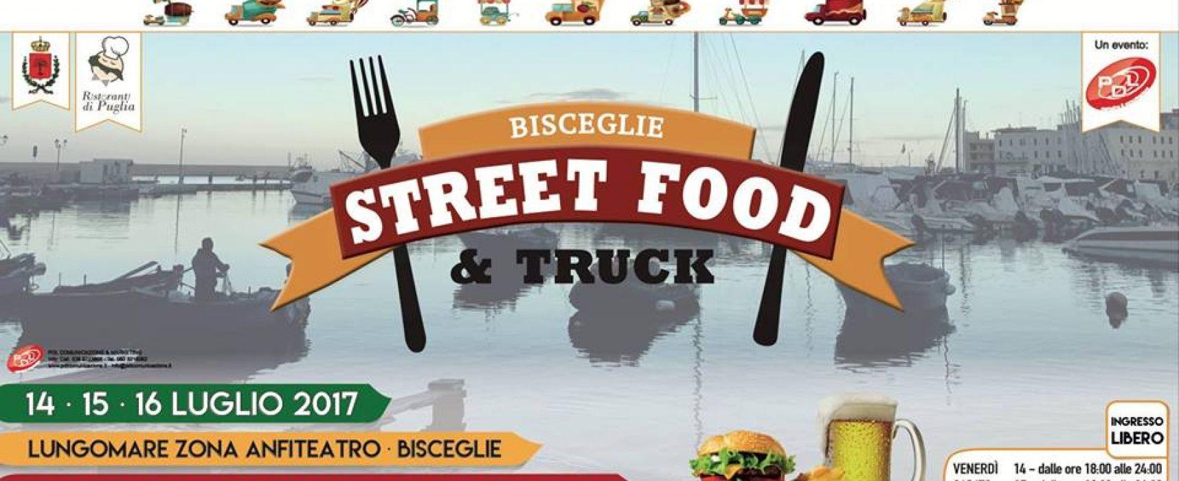 """""""Street Food & Truck"""" arriva a Bisceglie per tre giorni all'insegna di musica, cibo e divertimento"""