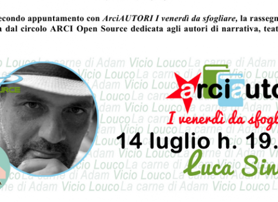 Luca Sinesi a Bisceglie per presentare il suo secondo romanzo