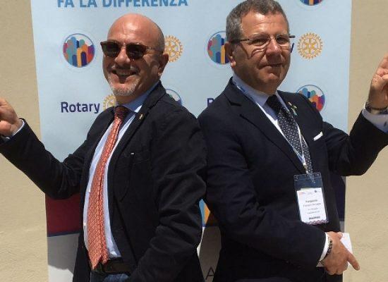 Rotary, passaggio del martelletto da Pedone a Sinigaglia l'8 luglio