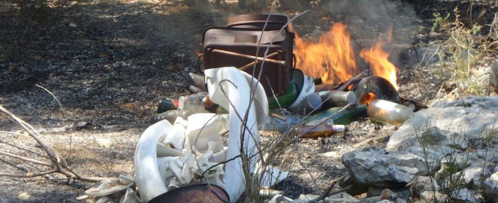 Due incendi nell'agro biscegliese, in fiamme anche cumuli di immondizia