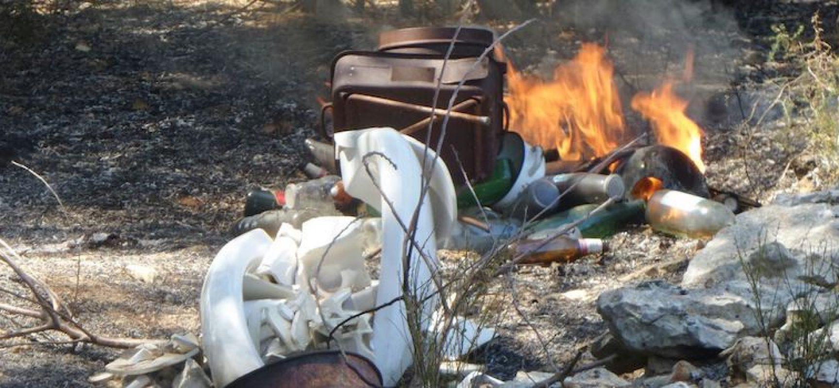 Rifiuti incendiati, Ambiente 2.0 chiede l'intervento della Procura e predispone altre foto-trappole