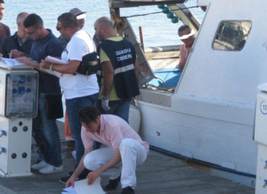 Controlli nei porti della Bat, sanzioni e 200 kg prodotti ittici sequestrati