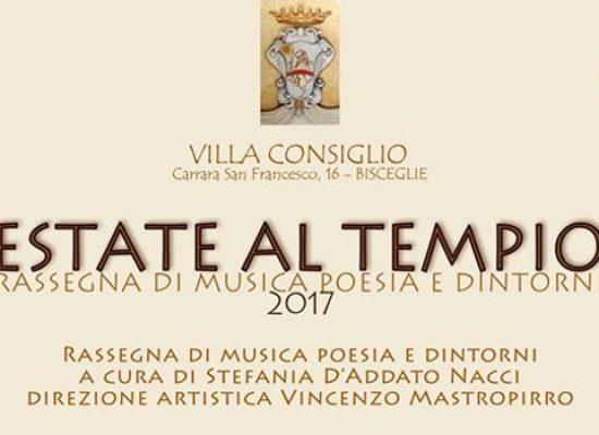 """Ritorna la rassegna """"Estate al tempio"""": arte, musica e poesia a Villa Consiglio"""